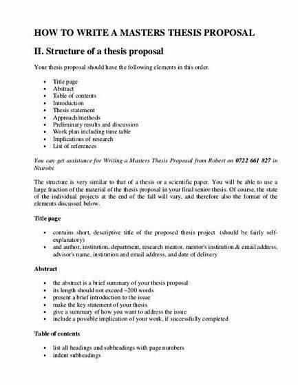 Biology master thesis proposal outline occasions you may well