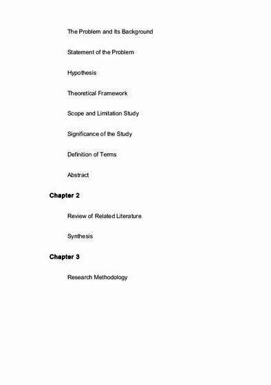 Bshrm thesis title proposal on education get an excellent example