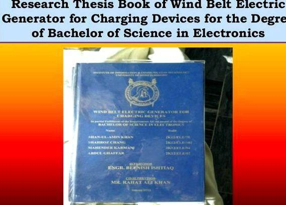 Buy wind belt generator thesis the LEDs