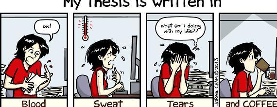 Caution thesis writing in progress phd comics deadlines ve good command
