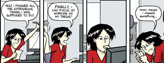 Caution thesis writing in progress phd comics writing thesis pdf