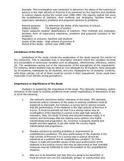 Writing chapter 5 dissertation