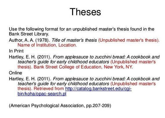 How to write an apa style thesis