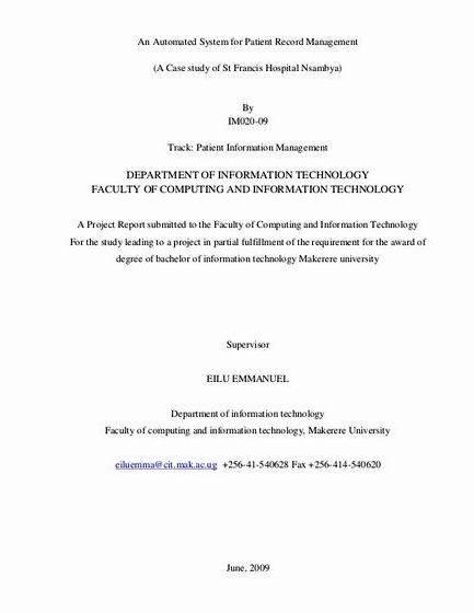 Clinic record management system thesis proposal proposal using Proposal Pack