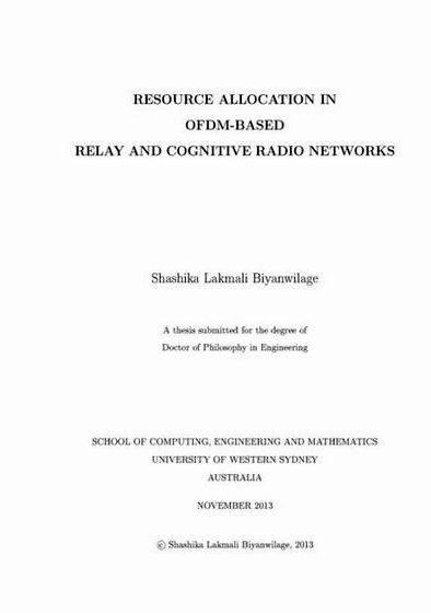 Cognitive radio dissertation