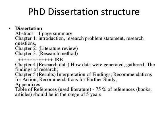 Dissertation comparative plan