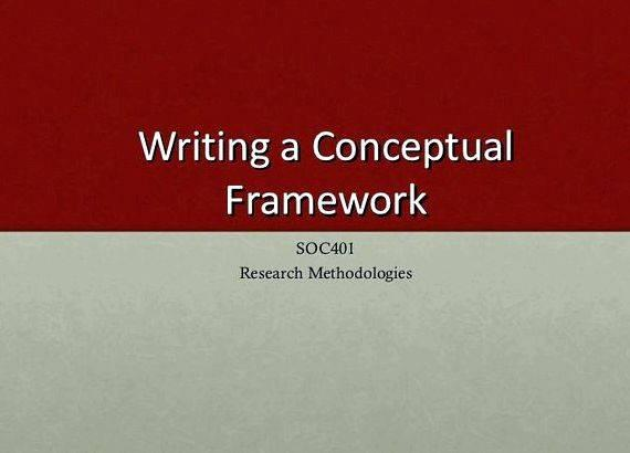 Help in thesis writing conceptual framework