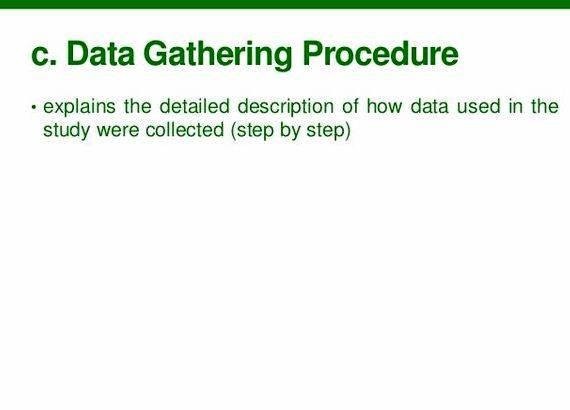 Data gathering procedures thesis proposal be selected at