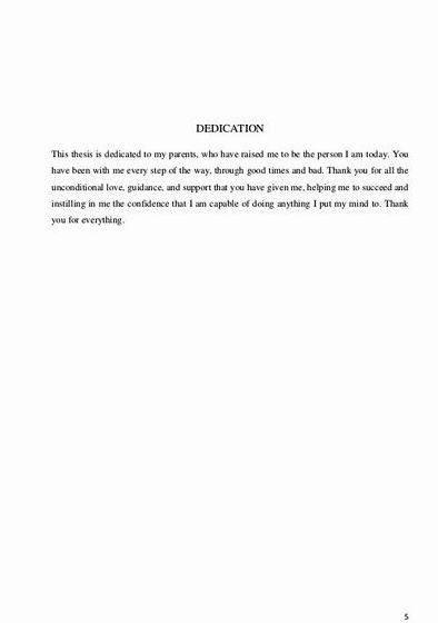 Dedications To Parents In Thesis Proposal