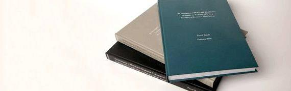 Dissertation binding online