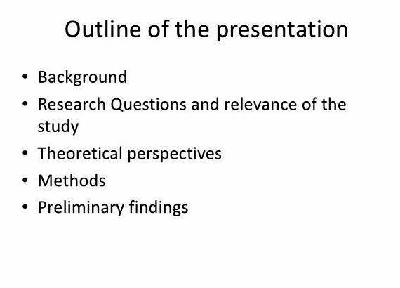 Dissertation proposal presentation outline