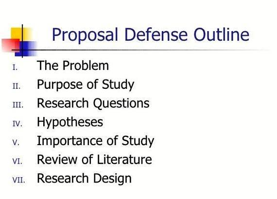 Phd thesis proposal presentation outline