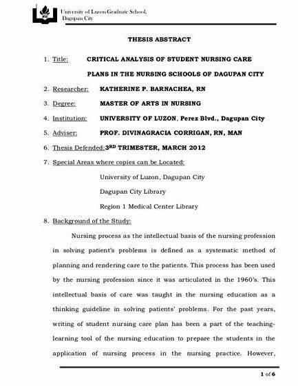 Dissertation proposal sample nursing care plans Free Coursework          Care plans