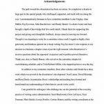 Dissertation writing acknowledgements for thesis