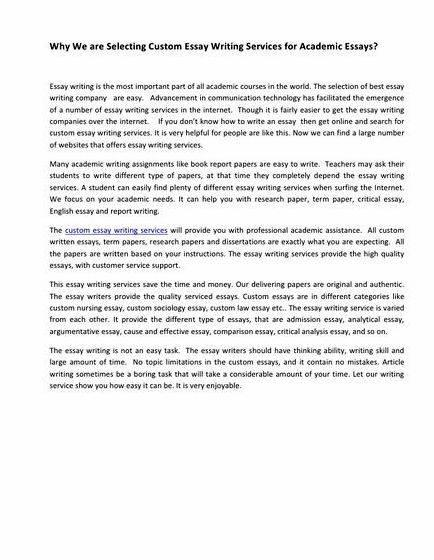 Research essays about autism