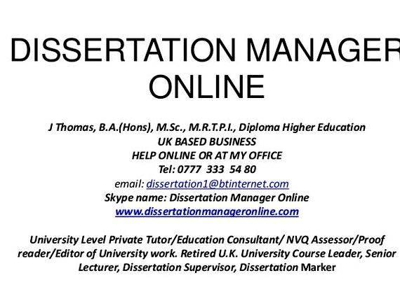 Phd dissertation assistance management