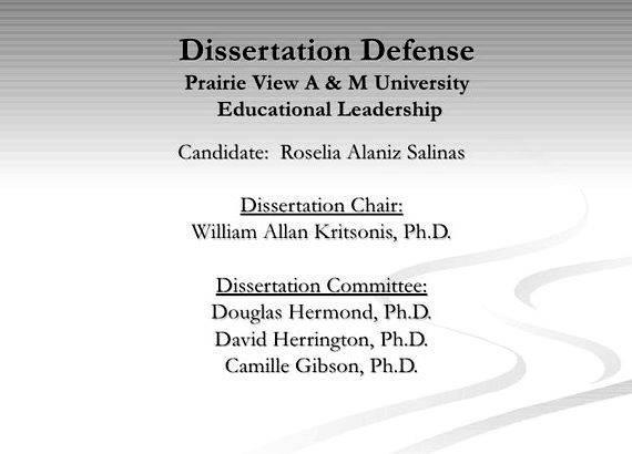 Doctoral dissertation outline