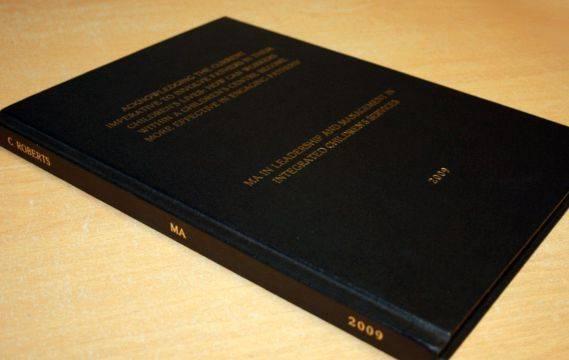 Dissertation binding services durham