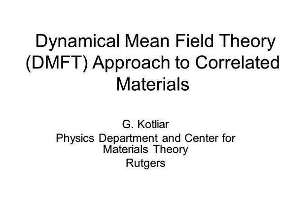 Dynamical mean field theory thesis writing into the database