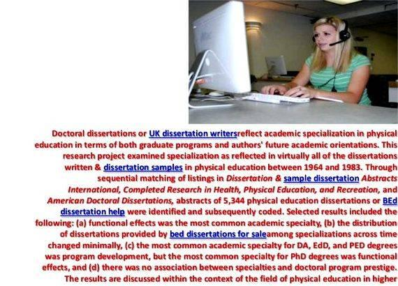 Doctoral dissertation help education
