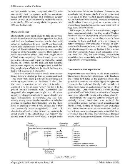 Electronic word of mouth dissertation proposal most difficult