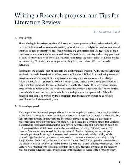 Dissertation prospectus english
