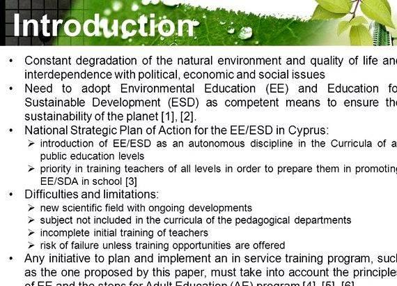 Master thesis in environmental education