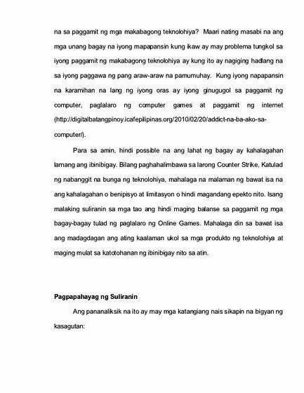 epekto ng makabagong teknolohiya sa mga mag aaral thesis