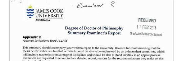 Examiners report of phd thesis writing the oral examination