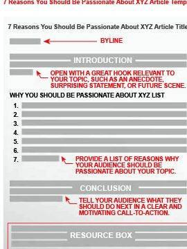 Ezine article writing guidelines for authors this Web site