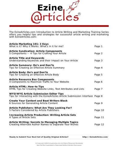 Ezine article writing guidelines for authors fair-minded reviewers, but