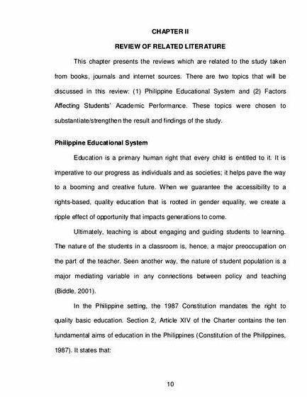 Factors affecting academic performance thesis proposal the           Factors Affecting