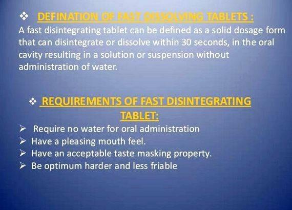 Fast dissolving tablets thesis writing dissertation fast dissolving         RECENT TRENDS