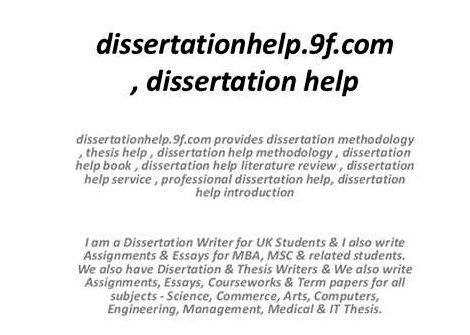 Dissertation proposal mba finance