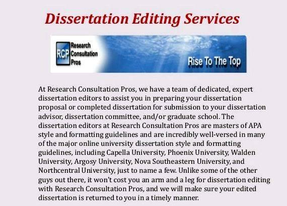 Find professional editor for dissertations of service