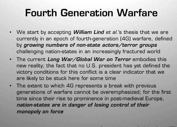 Fourth generation warfare thesis writing long drawn out and protracted