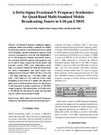 fractional n frequency synthesizer thesis A fully integrated fractional-n frequency synthesizer for wireless  communications a thesis presented to the academic faculty by.