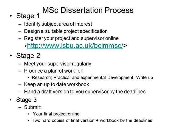 Msc dissertation writing service