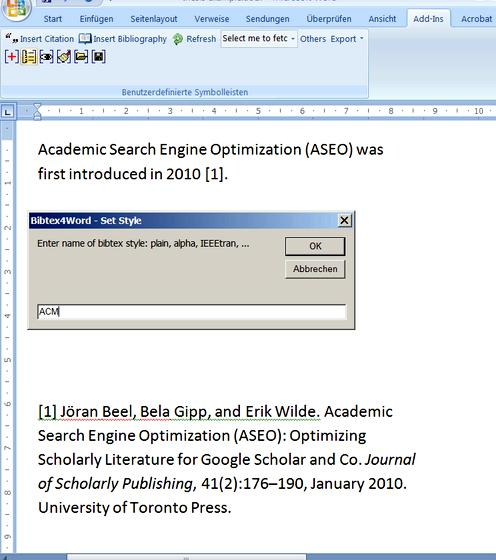 Guidelines for writing references in thesis presented in