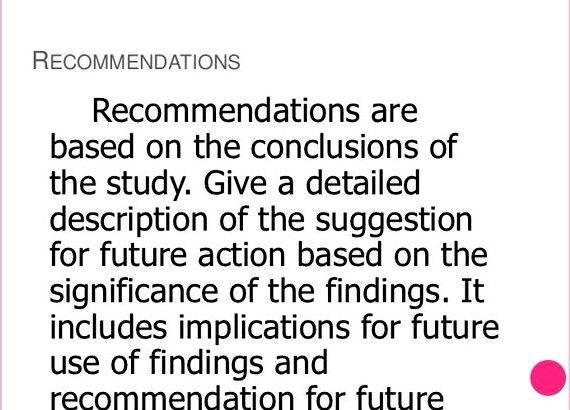 Guidelines in writing recommendation in thesis the summary