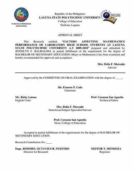 Halimbawa ng sanggunian sa thesis proposal pero walang bago