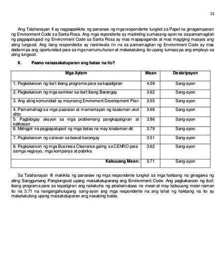 Talaan ng nilalaman sa thesis -