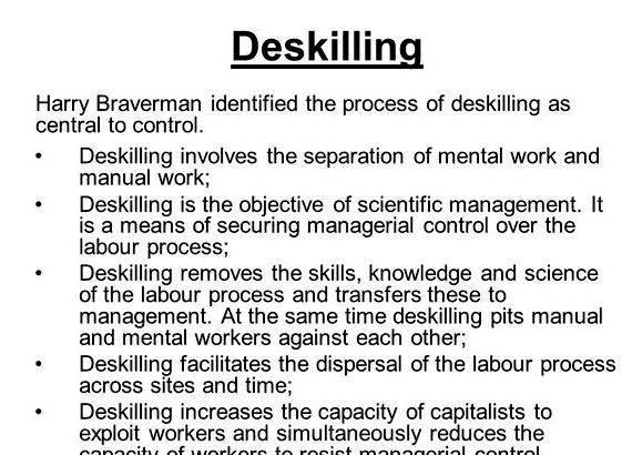 deskilling in education