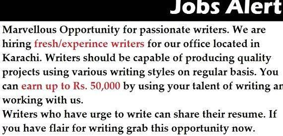 Home based article writing jobs in karachi or access our    online