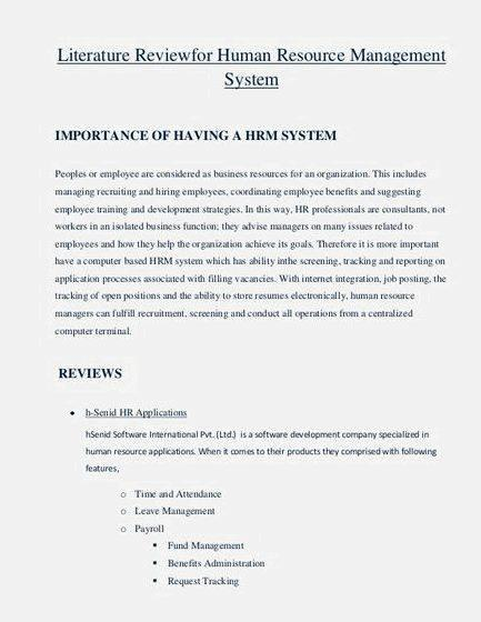Dissertation proposal on human resource management