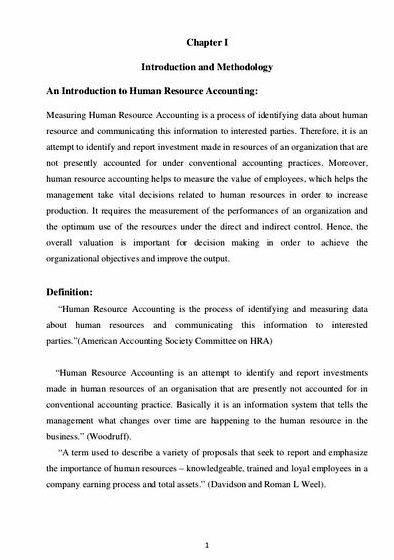 Dissertation on human resource management