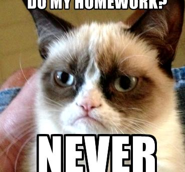 I never want to do my homework an easy assignment, take