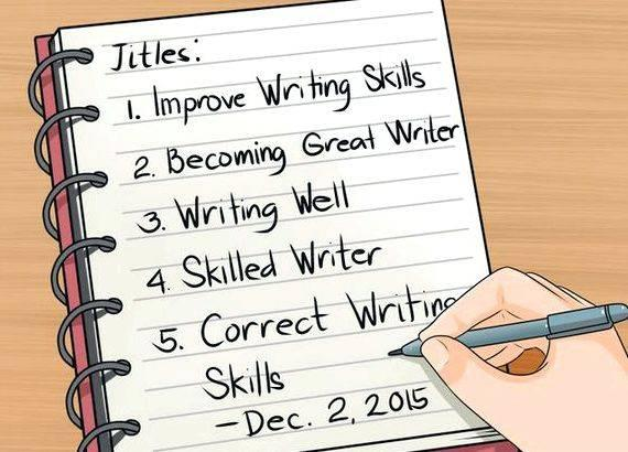 I want to improve my writing skills preparing for