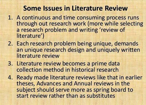 Importance of review of literature in thesis writing including the