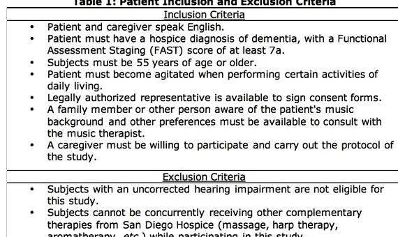 Inclusion exclusion criteria dissertation proposal Then go to